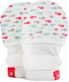 Goumikids Mitts, School of Fish Aqua (3-6 Months)