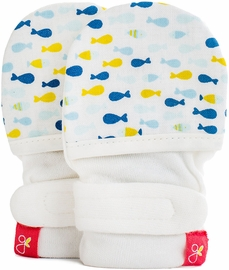 Goumikids Mitts, School of Fish Navy (0-3 Months)