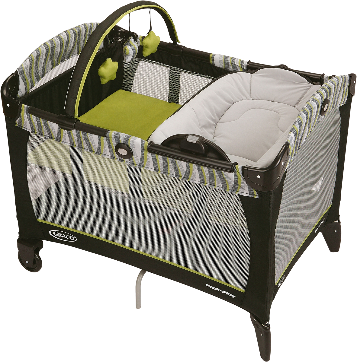 Portable Crib Playpen Pack N Play Graco Travel Playard Twin Bassinets Napper