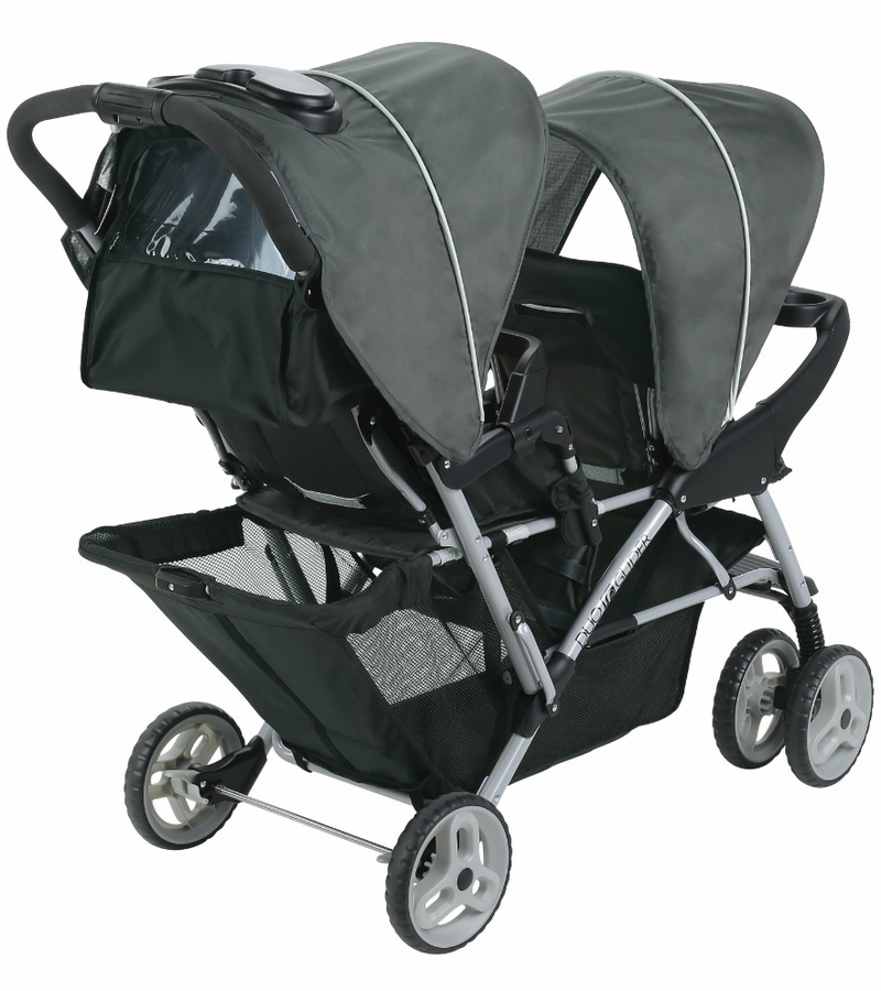 Graco Duoglider Click Connect Double Stroller Glacier