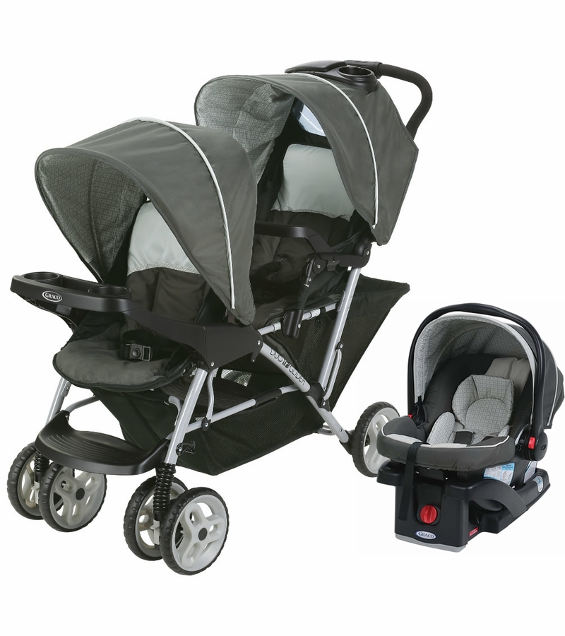 Graco DuoGlider Click Connect Double Stroller with Car ...