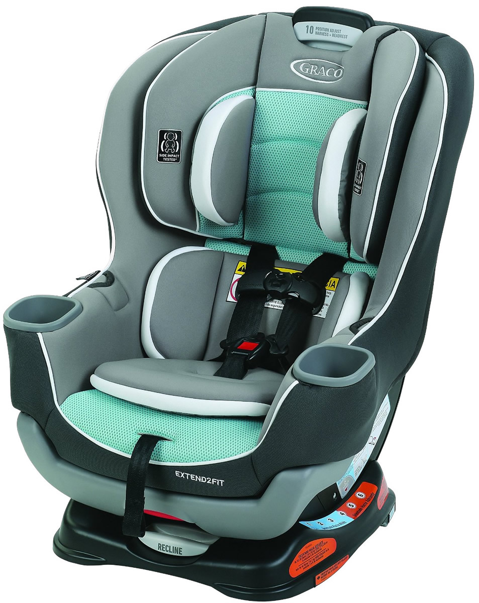 Graco Extend2Fit Convertible Car Seat - Spire