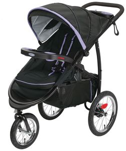 Graco FastAction Fold Click Connect Jogging Stroller - Lilac