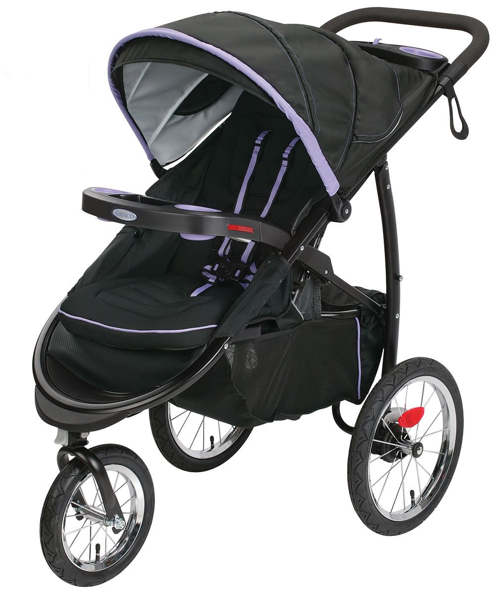 graco fastaction fold click connect jogging stroller lilac 64