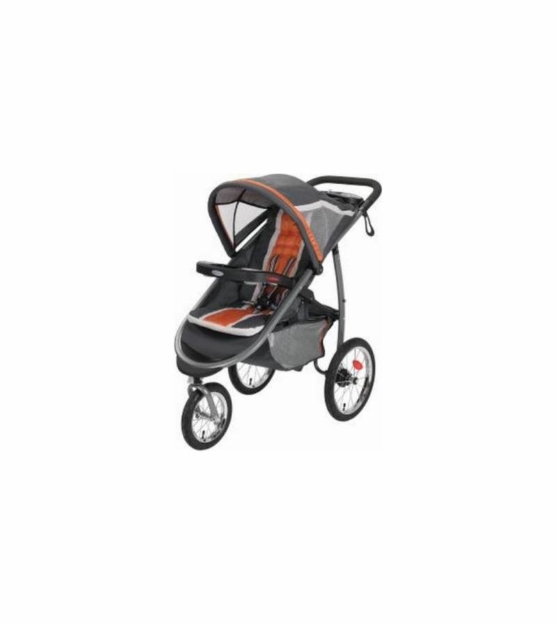 Graco Fastaction Fold Click Connect Jogging Stroller Tangerine
