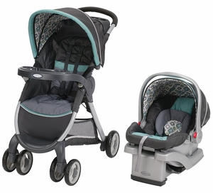 Graco FastAction Fold Click Connect Travel System - Affinia
