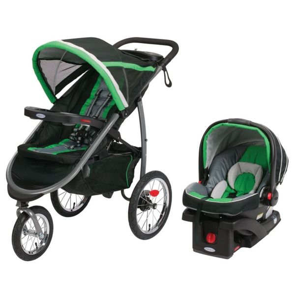 Graco FastAction Fold Jogger Click Connect Travel System - Fern
