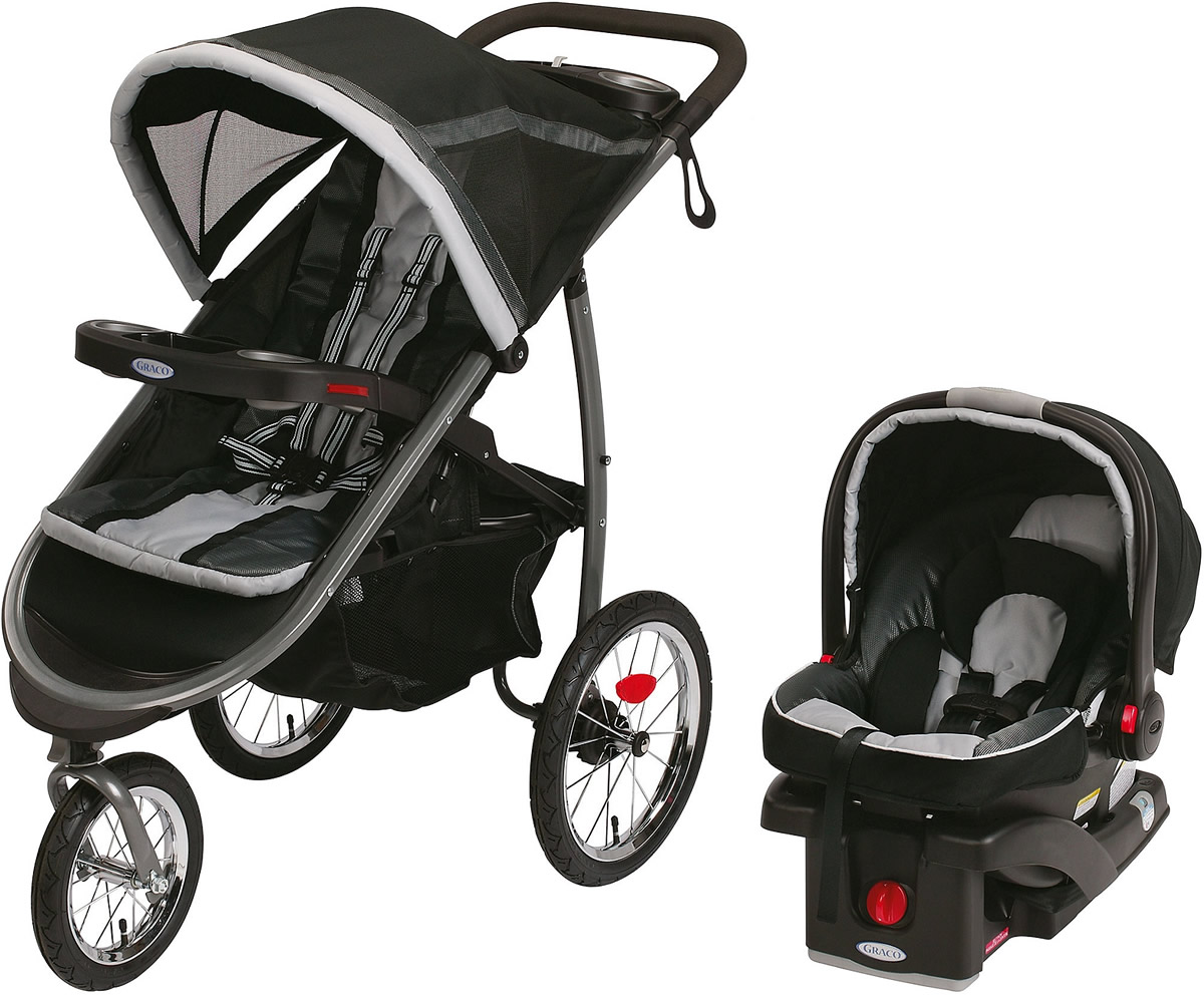 Graco Fastaction Fold Jogger Click Connect Travel System Gotham