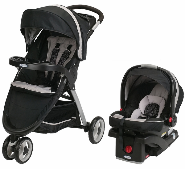 Graco FastAction Fold Sport Click Connect Travel System - Pierce