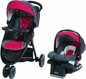 Graco FastAction Fold Sport LX Click Connect Travel System - Chili Red