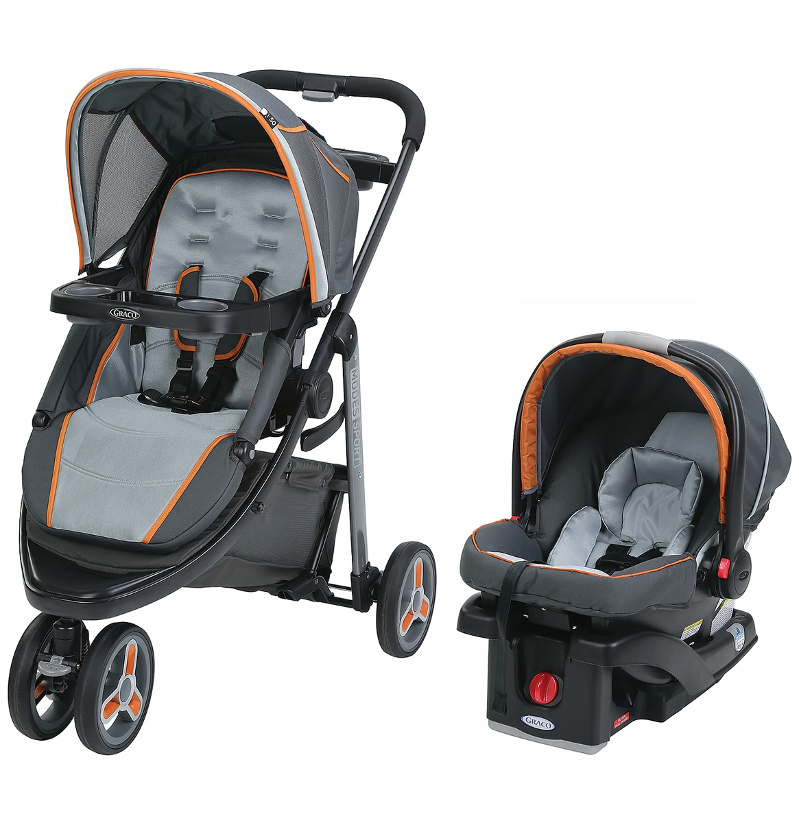 Graco Modes Sport Click Connect Travel System - Tangerine