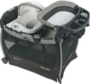 Graco Pack 'n Play Playard Cuddle Cove Elite with Soothe Surround Technology - London