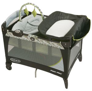 Graco Pack 'n Play Playard with Newborn Napper Station LX - Caraway