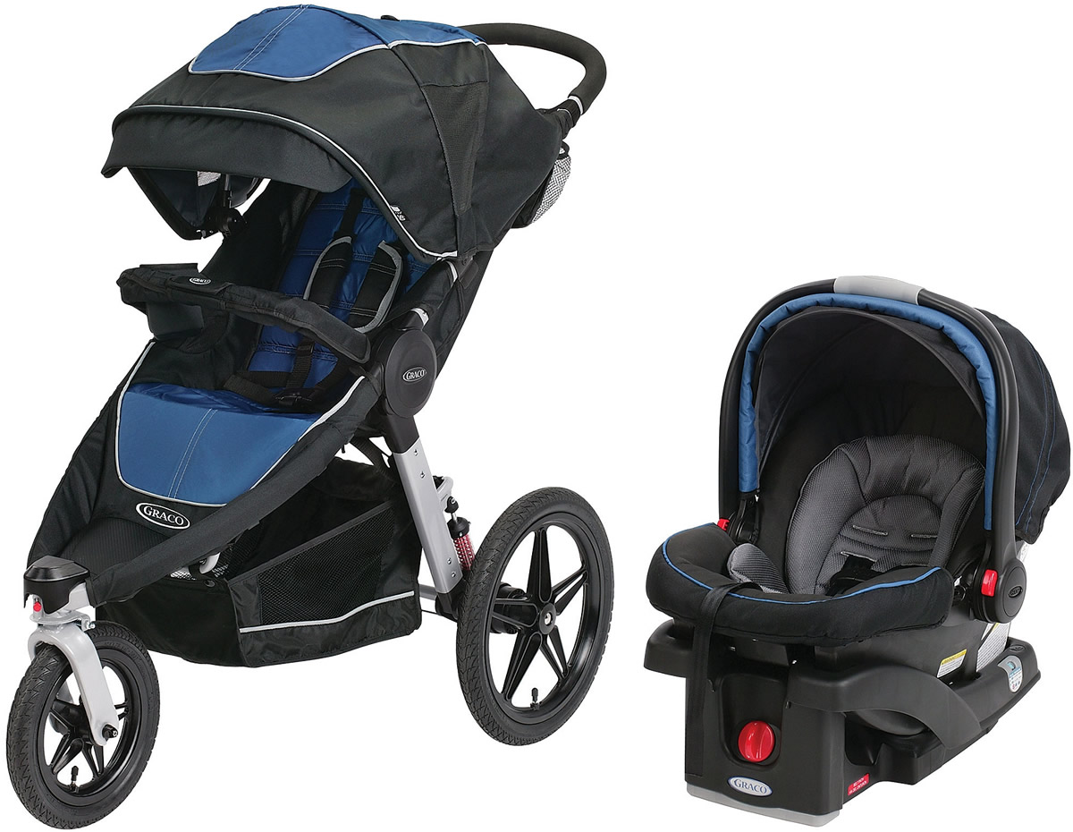 Graco Relay Click Connect Travel System Car Seat Stroller Combo Jaguar