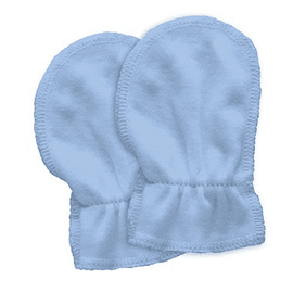 Green Sprouts Organic Cotton Mitts 2pk - Cornflower (Birth to 6 weeks)