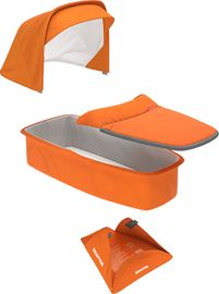 Greentom Carrycot Fabric & Mattress Set - Orange