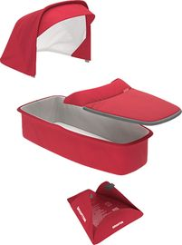 Greentom Carrycot Fabric & Mattress Set - Red