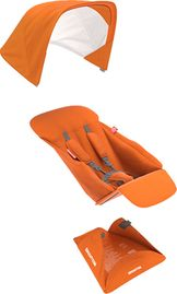 Greentom Reversible Seat Fabric Set - Orange