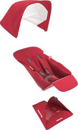 Greentom Reversible Seat Fabric Set - Red