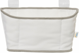Halo Bassinest Storage Caddy - White with Grey Trim