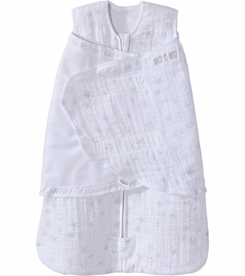 Halo Sleepsack Quilted Muslin Swaddle Constellation Grey