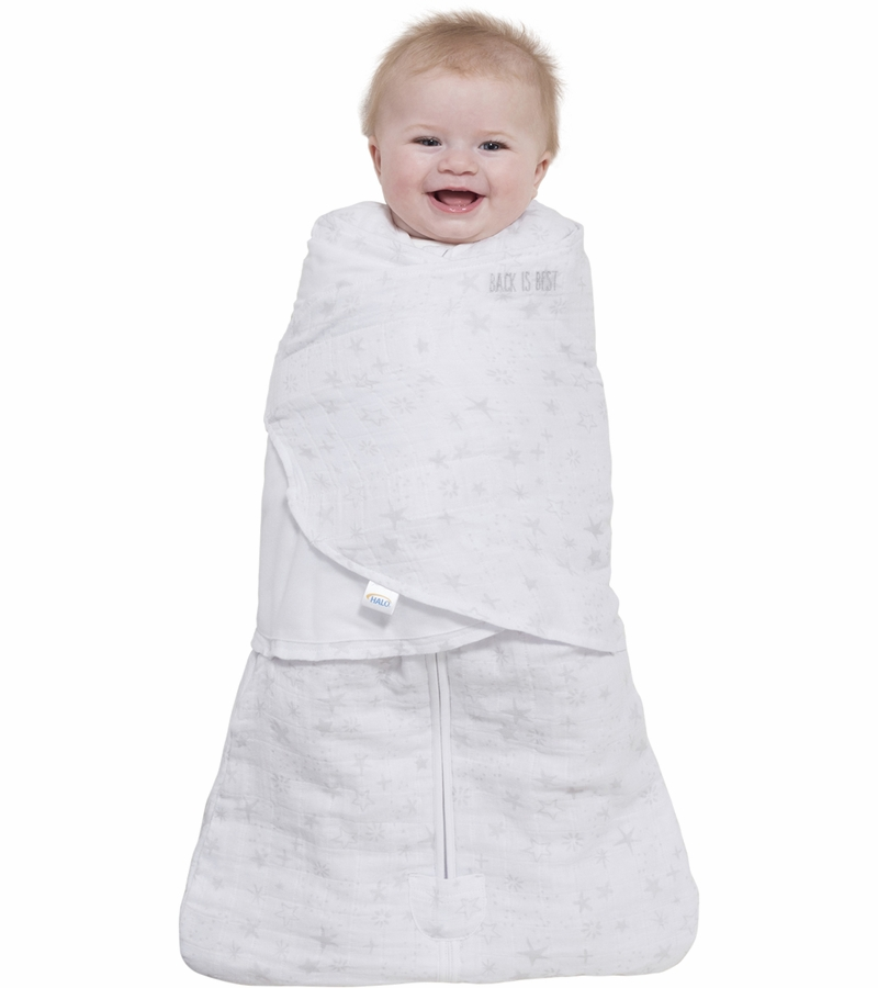 detailed look 144b4 a30ad Halo SleepSack Quilted Muslin Swaddle - Constellation Grey (Small)