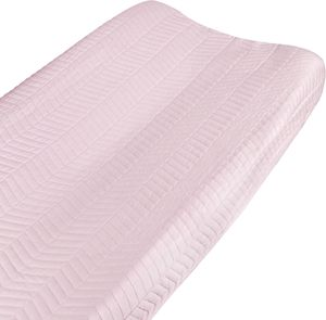 Hello Spud Organic Cotton Changing Pad Cover - Pink Chevron