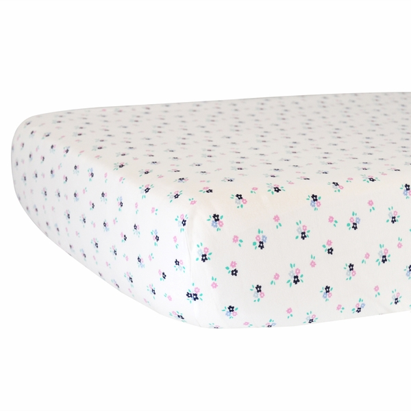 Hello Spud Organic Cotton Fitted Crib Sheet - Paris Floral