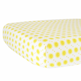Hello Spud Organic Cotton Fitted Crib Sheet - Yellow Sunshine