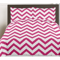 Hot Pink & White Chevron Collection