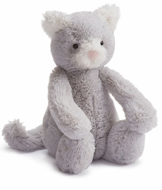 Jellycat Bashful Kitty Grey, 7""