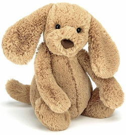 Jellycat Bashful Puppy in Toffee, 7""