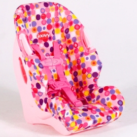 Joovy Doll Booster Car Seat In Pink Dot