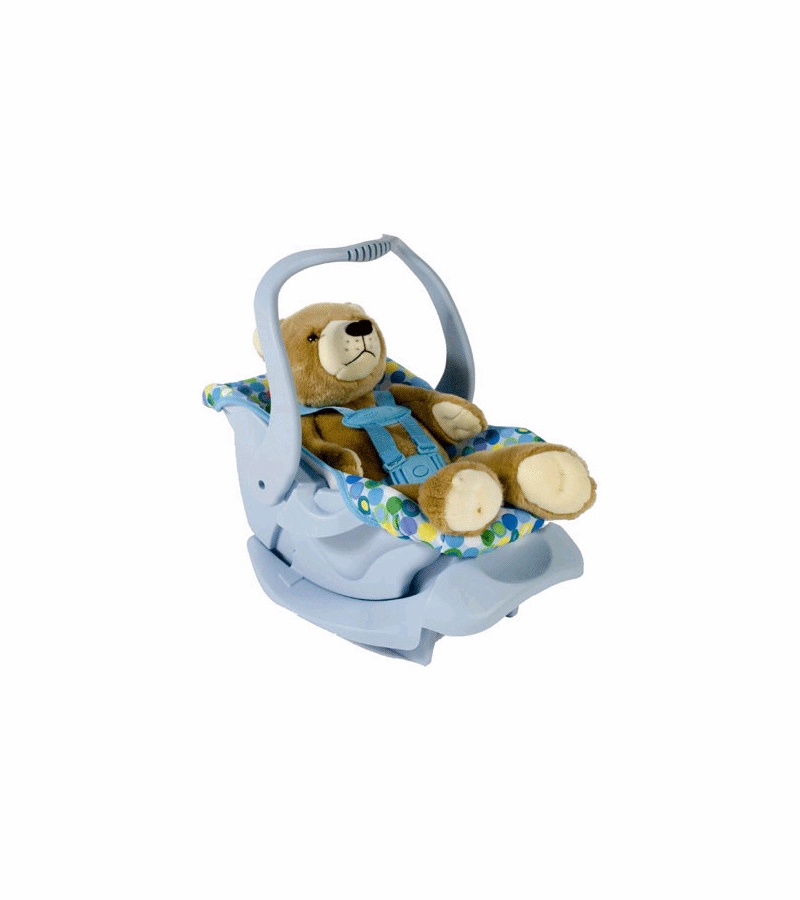 Joovy Doll Or Stuffed Toy Car Seat In Blue Dot