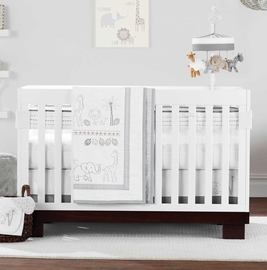 Just Born 3 Piece Crib Bedding Set - Animal Kingdom