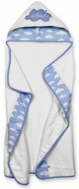 Just Born Hooded Towel - Clouds Blue