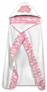 Just Born Hooded Towel - Clouds Pink