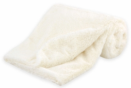 Just Born Sparkle Cuddleplush Blanket - Ivory