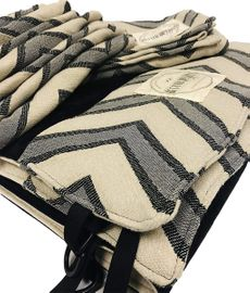 Keenz 7S Stroller Wagon Liner with Matching Blanket & Harness Pad Covers - Chevron