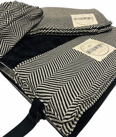 Keenz 7S Stroller Wagon Liner with Matching Blanket & Harness Pad Covers - Herringbone