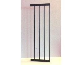 """Kidco 10 """" Extension for Angle-Mount Safeway Gate in Black"""