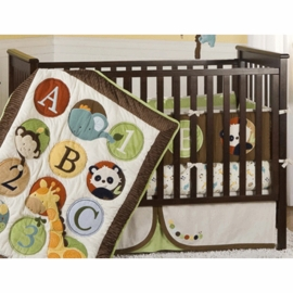 KidsLine Peek-A-Boo Pals 6 Piece Crib Set