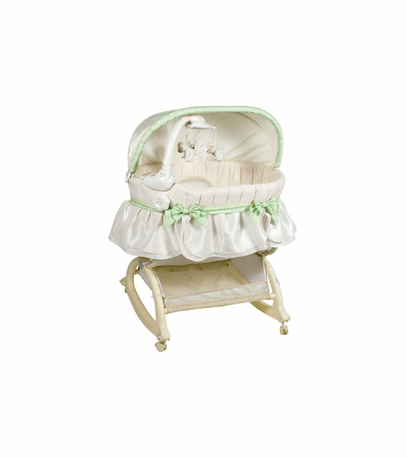 Kolcraft Easy Reach Rocking Bassinet With Light Vibes Mobile