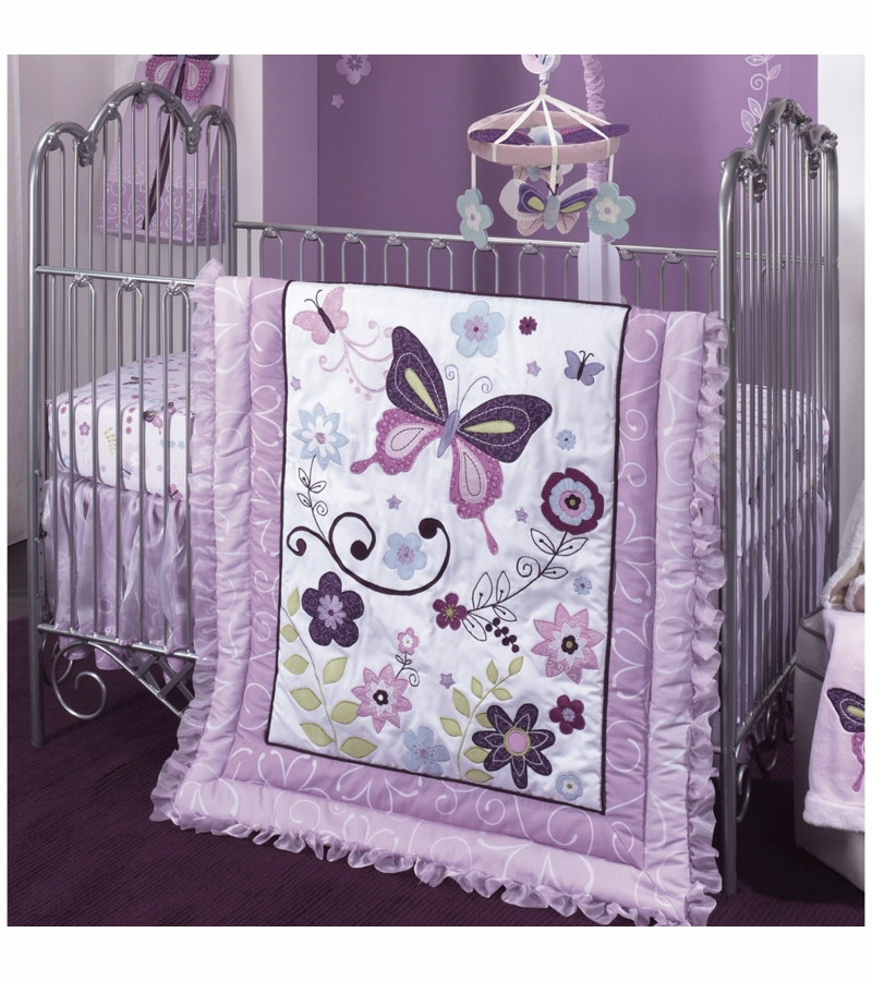 Lambs Amp Ivy Butterfly Lane 5 Piece Crib Bedding Set