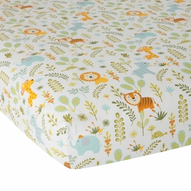 Lambs & Ivy Dena Happi Jungle Fitted Crib Sheet