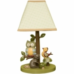 Lambs & Ivy Enchanted Forest Lamp with Shade