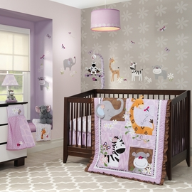 Lambs & Ivy Ladybug Jungle 4 Piece Bedding Set