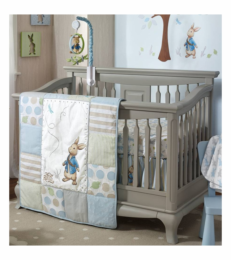Lambs Amp Ivy Peter Rabbit 4 Piece Crib Bedding Set