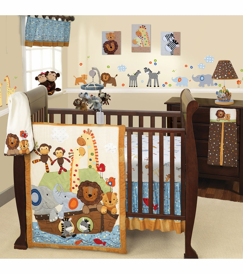 Lambs Amp Ivy S S Noah 5 Piece Crib Bedding Set