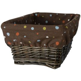 Lambs & Ivy S.S. Noah Basket with Liner in Espresso
